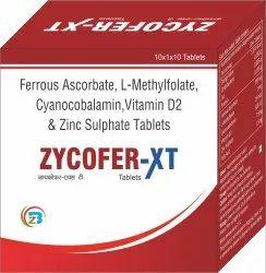 Ferrous Ascorbate , L-Methylfolate, Cyanocobalamin, Zinc Sulphate Tablets