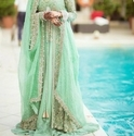 Sea Green Bridal Lehenga