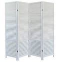 White Wooden Room Divider, Size: 80 X 72 Inch
