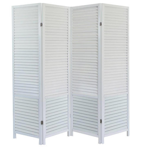 Aarsun Woods White Handcrafted Wooden Room Divider
