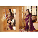 Ladies Purple Designer Saree