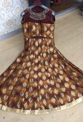Ladies Net Brocade Silk Anarkali Suit
