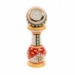 Decorative Marble Table Clock, Packaging Type: Box