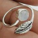 925 Sterling Silver Green Gemstone Ring