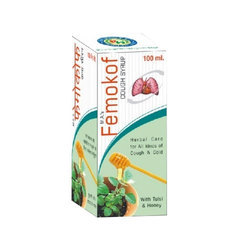 MA Herbal Femokof Cough Syrup for Dry Cough, Bottle Size: 200ml