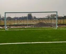 Football Net Goal Post Fixed Type Aluminium FIFA Specifications