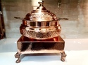 Copper Embosed Handi Set with Heritage Chowki