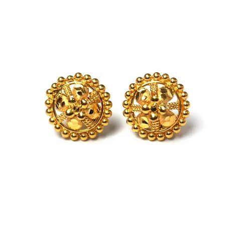 493898164 Gold Tops Earrings, Ear Tops - Vishesh Jewels & Craft Overseas, New ...