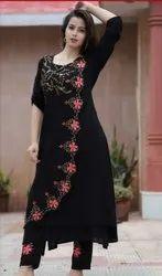 Ladies Designer Black Kurti