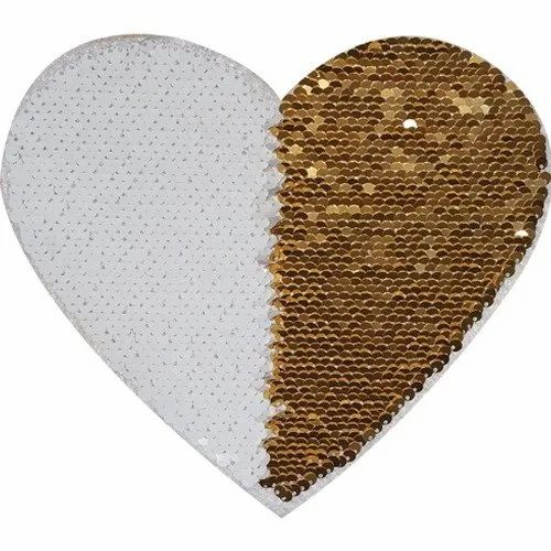 Heart Sublimation Heat Press Sequin Sticker For T-Shirt