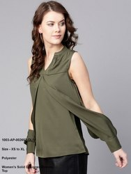 Solid Designer Sleeves Top