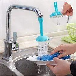 Plastic 2 Types Water Flows, Adjustable Kitchen Sink Tap Faucet Nozzle (Blue, Large)