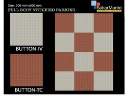 Button Full Body Vitrified Parking Tiles