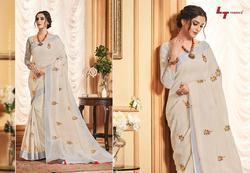 LT Preksha Series 63001-63010 Stylish Party Wear Linen Silk Saree