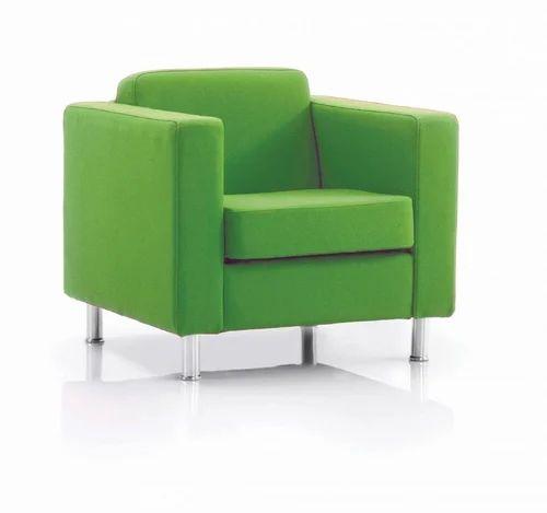 Single Seater Sofa Full Cushion With Green Colour