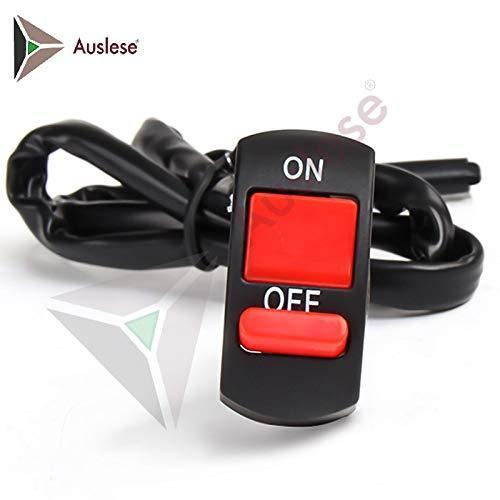 Auslese Universal Motorcycle Handlebar Fog Light Switch On Off Button 12v Dc