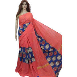 Georgette Printed Indian Saree, Size: 6 m