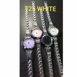 Analog Ladies Silver Wrist Watches