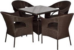 Universal Furniture Venus Outdoor 4 Chairs and Table Set