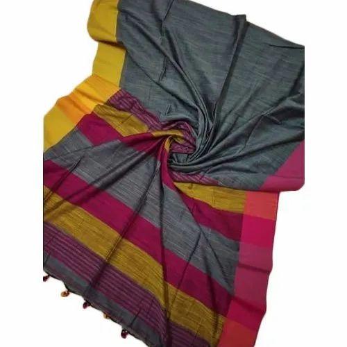 6.3-6.5 m Festive Wear,Party Wear Khadi Saree, With Blouse Piece