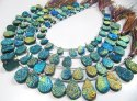 Natural Titanium Coated Agate Blue Druzy Pear Shape Briolette Beads