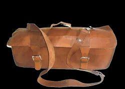 Brown Handicraft Villa Genuine Leather Tool Bag