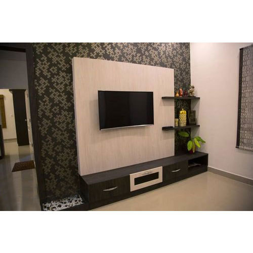 modern brown designed wall tv unit warranty more than 5 year rs rh indiamart com wall tv unit modern wall tv unit ikea