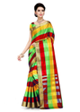 Designer Zari Border Uppada Checks Saree with Running Blouse Piece