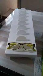 White Acrylic Optical Eyewear Display Tray