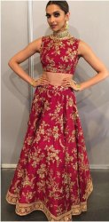 Designer Banglory Silk Embroidered  Lehenga Choli