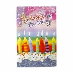 Multicolor Paper Birthday Greeting Cards