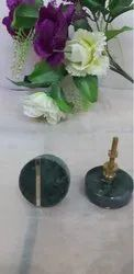 Marble Brass Door Knobs