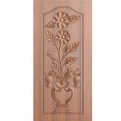 Micro Coated Wooden Interior Flower Pot Designer Door, For Home, Thickness: 32 Mm