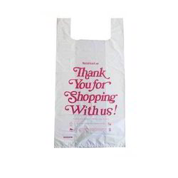 White HDPE Carry Bags, Capacity: 2 Kg