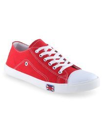 Feetzone Red Canvas Shoes