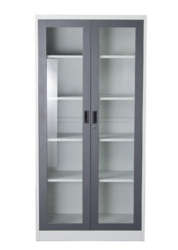 2 Door Glass Door Cabinet