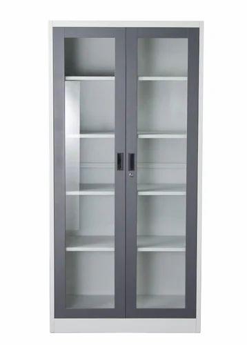 2 Door Glass Door Painted Cabinet Height 482 Mm Id