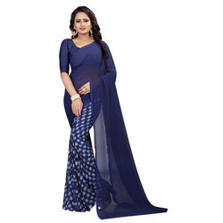 Georgette Weightless Fancy Saree, Length: 6.3 m