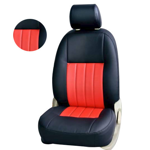 Leather, Rexin Black And White Car Seat Cover