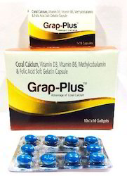 Grap-Plus Coral Calcium Vitamin D3 Vitamin B6 Methylcobal And Folic Acid Soft Gelatin Capsules
