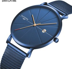 Round Analog Wrist Watches For Men, For Daily