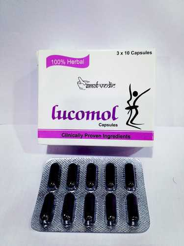 LUCOMOL Herbal Lukeria Free Capsules, for Clinical