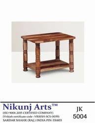 Brown Hard Wood Sheesham 4 Leg Center Table