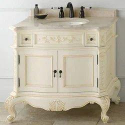 wooden bathroom vanity cabinet
