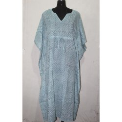 Indian Hand Block Print Cotton Kaftan Dress
