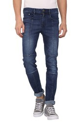 Slim Fit Panelled Jeans