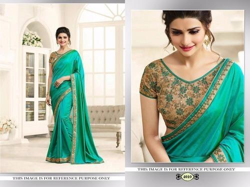 3686452492 Georgette Border Saree Designer Party Wear Office Party Wedding Bridal,  With Blouse Piece