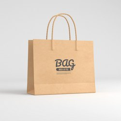 Brown custom paper bag, For Shopping, Capacity: 1kg