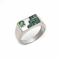 Handmade Mens Ring Favorite Stone Emerald Beautiful Simple Stylish Mens Ring
