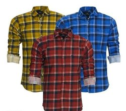 Casual Wear Check Fancy Mens Shirts, Size: M L XL XXL